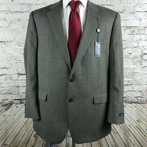 Chaps Two Button Sport Coat Size 46L NWT Wool